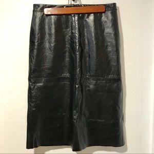 VNTG Gap Leather Skirt